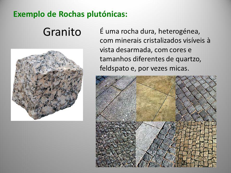 Granito Exemplo de Rochas plutónicas: