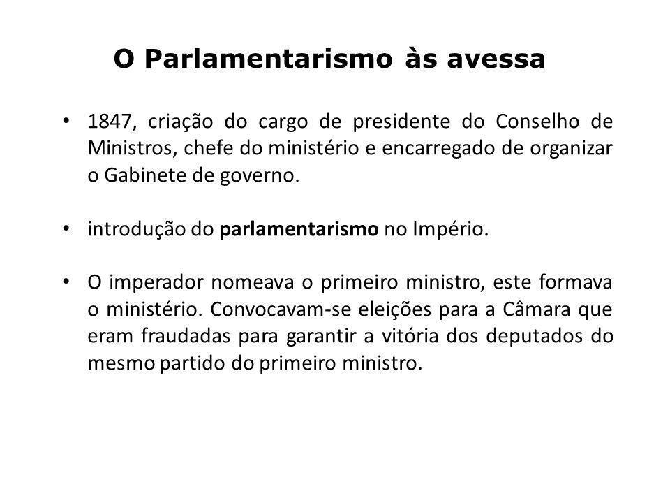 O Parlamentarismo às avessa