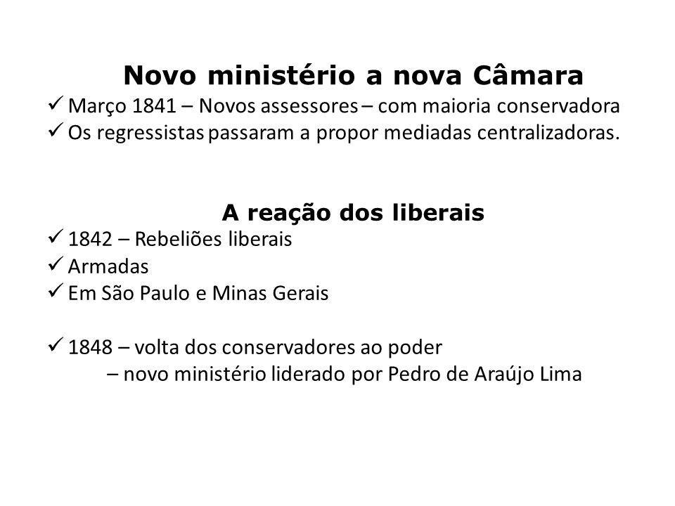 Novo ministério a nova Câmara