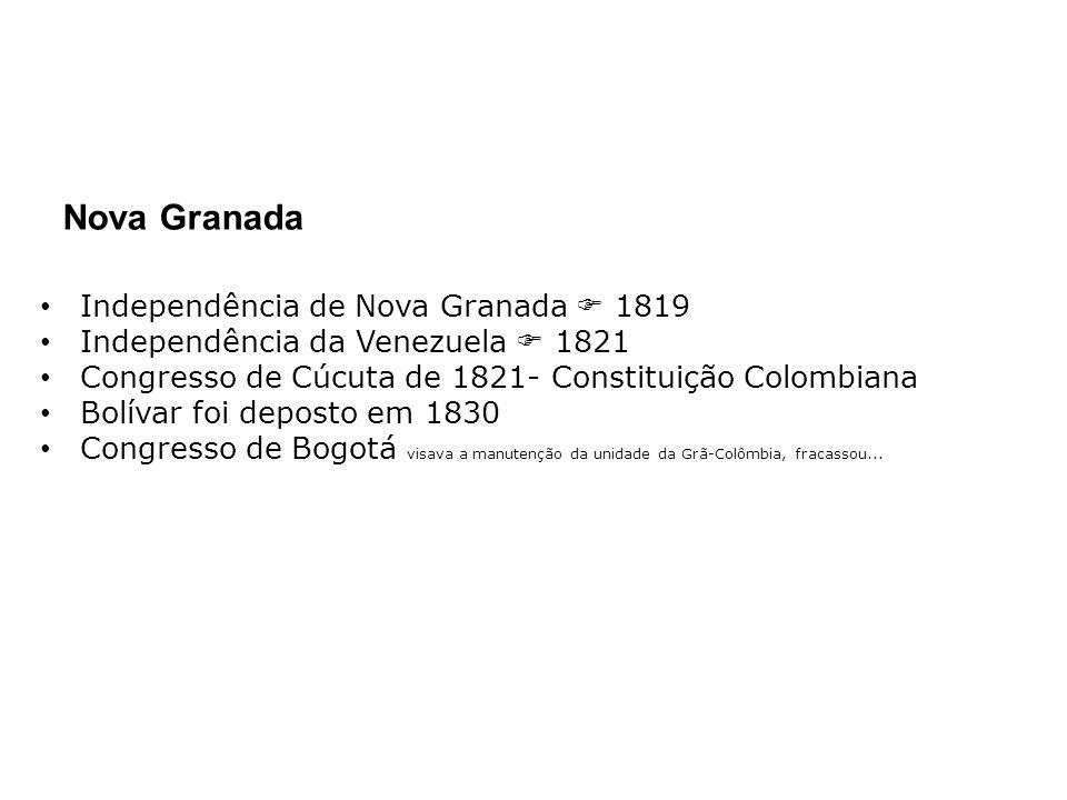 Nova Granada Independência de Nova Granada  1819