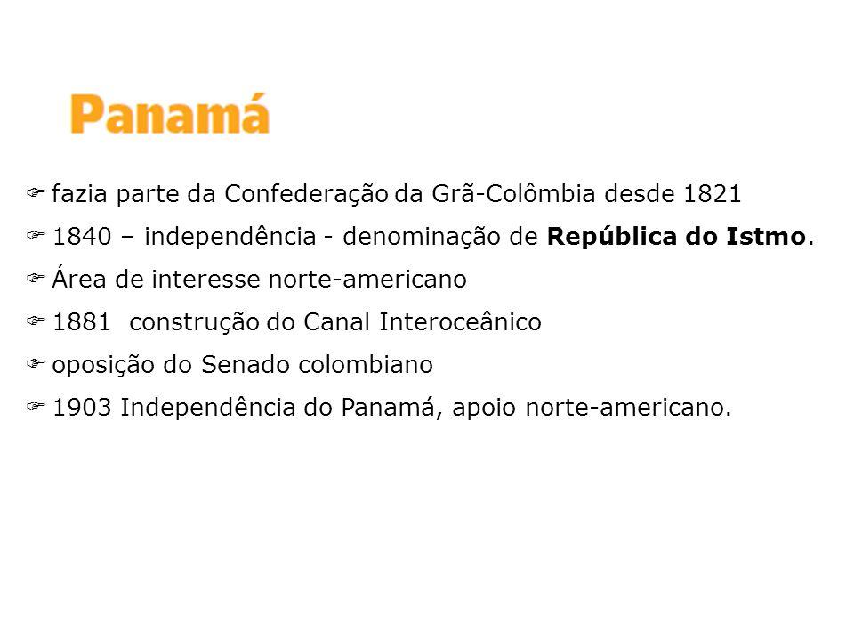 fazia parte da Confederação da Grã-Colômbia desde 1821
