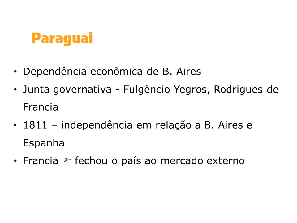 Dependência econômica de B. Aires
