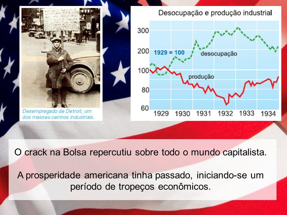 O crack na Bolsa repercutiu sobre todo o mundo capitalista.
