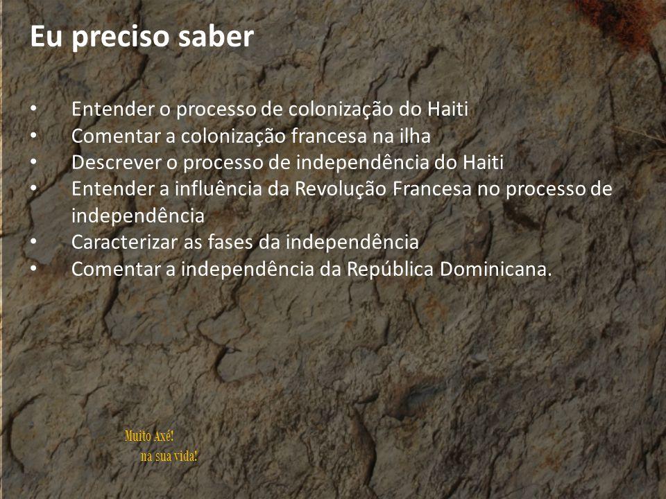 Eu preciso saber Entender o processo de colonização do Haiti