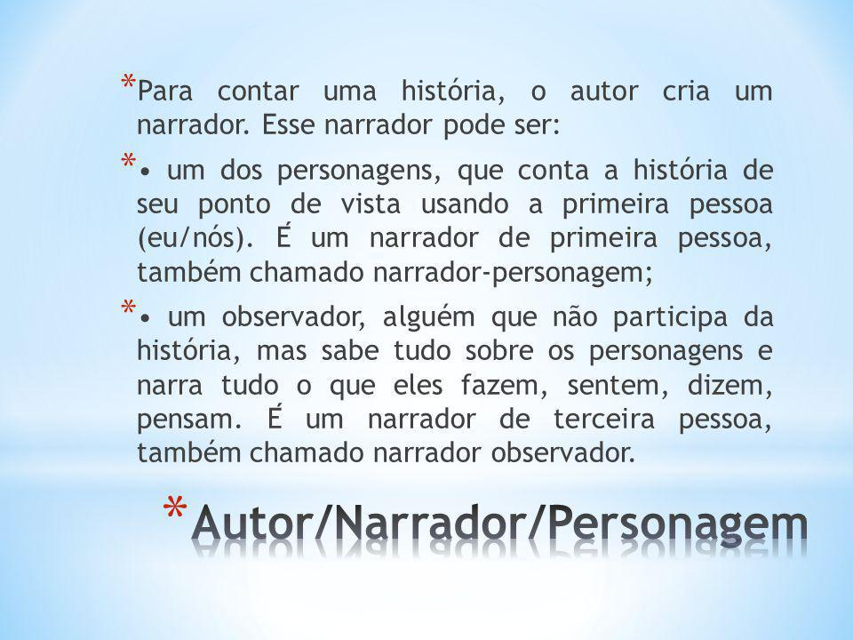Autor/Narrador/Personagem