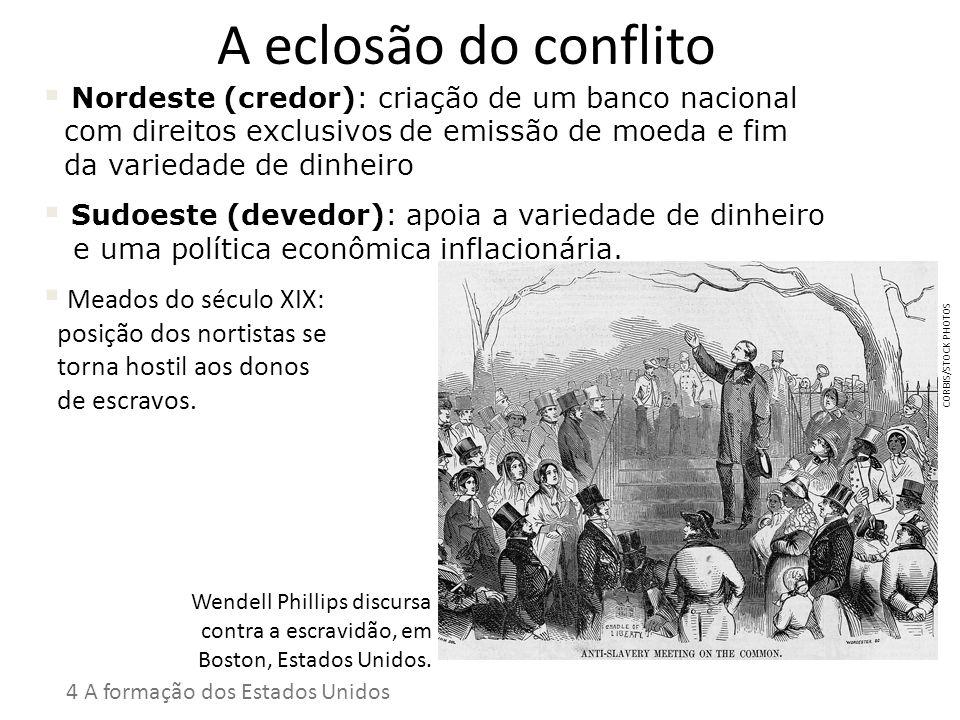 A eclosão do conflito Nordeste (credor): criação de um banco nacional com direitos exclusivos de emissão de moeda e fim da variedade de dinheiro.