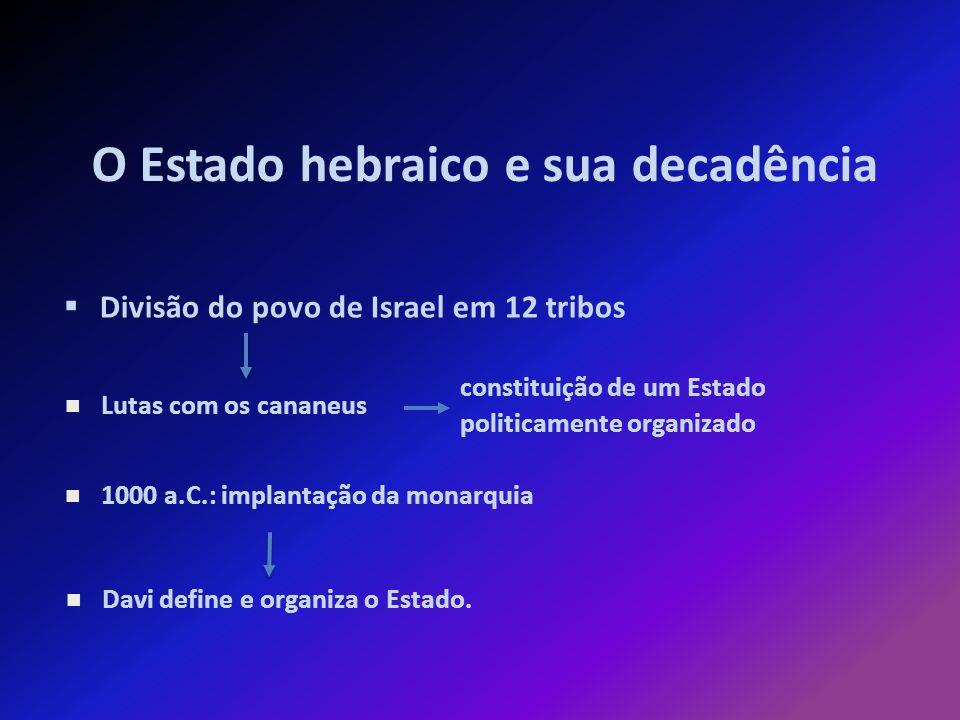 O Estado hebraico e sua decadência