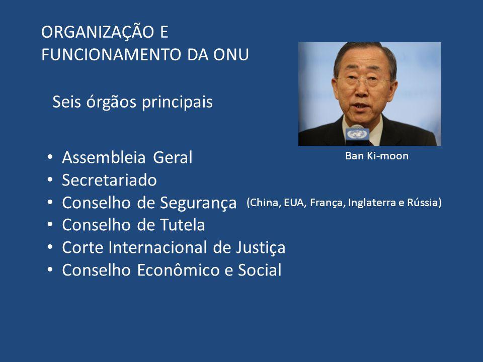 ORGANIZAÇÃO E FUNCIONAMENTO DA ONU