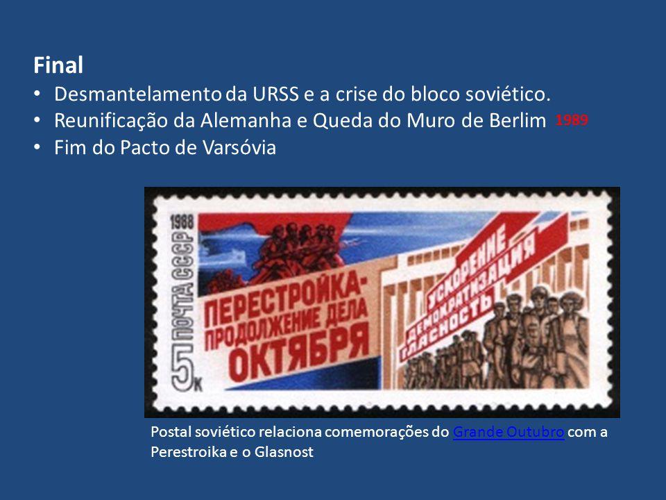 Final Desmantelamento da URSS e a crise do bloco soviético.