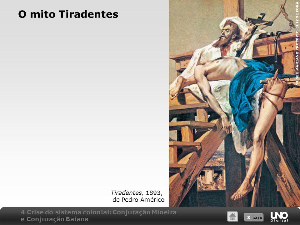 O mito Tiradentes Tiradentes, 1893, de Pedro Américo
