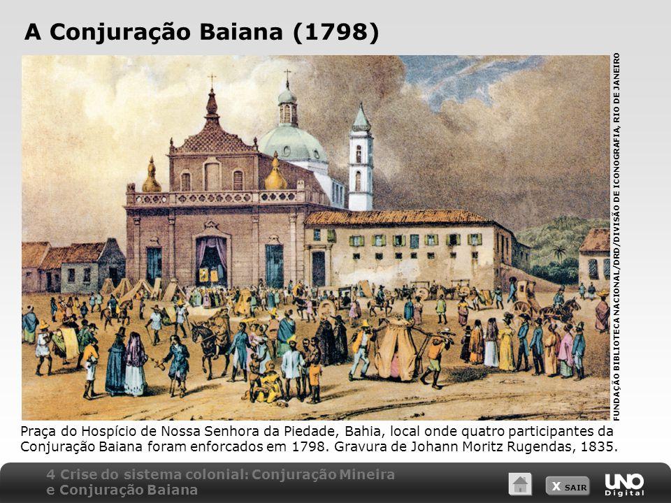 A Conjuração Baiana (1798) FUNDAÇÃO BIBLIOTECA NACIONAL/DRD/DIVISÃO DE ICONOGRAFIA, RIO DE JANEIRO.