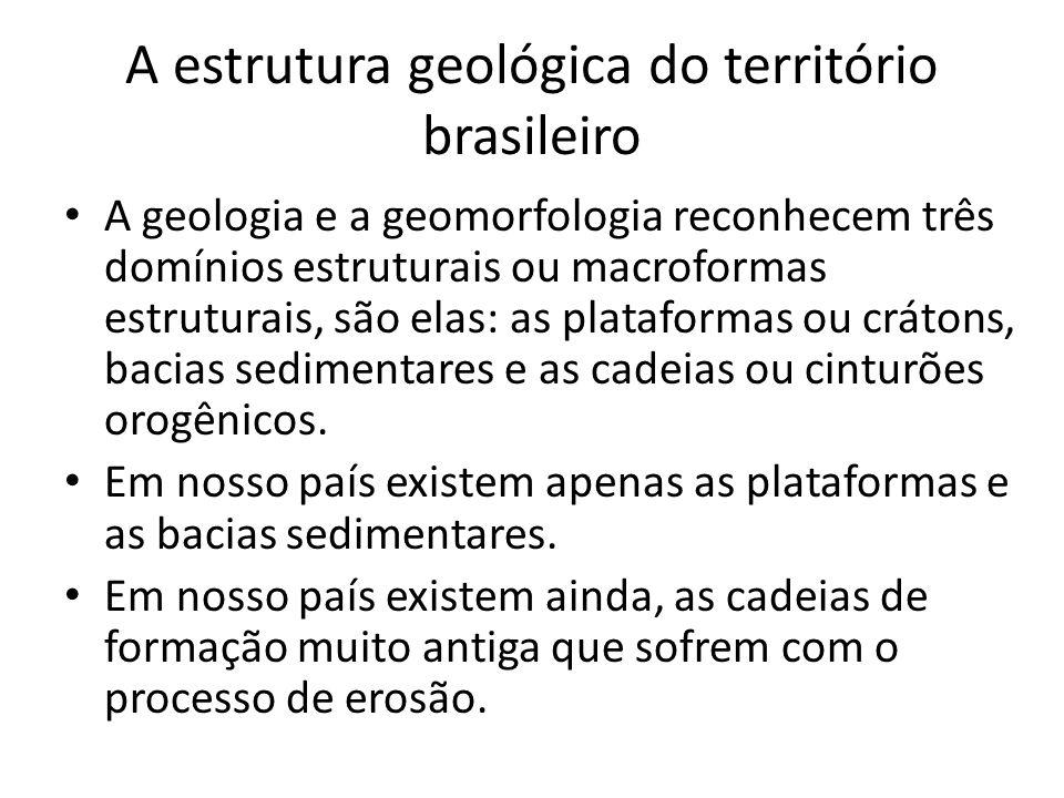 A estrutura geológica do território brasileiro