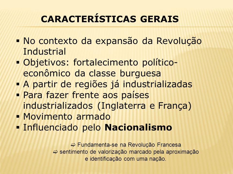 CARACTERÍSTICAS GERAIS No contexto da expansão da Revolução Industrial