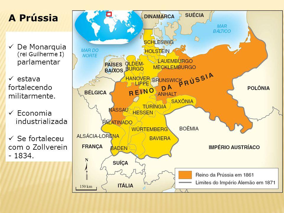 A Prússia De Monarquia (rei Guilherme I) parlamentar estava