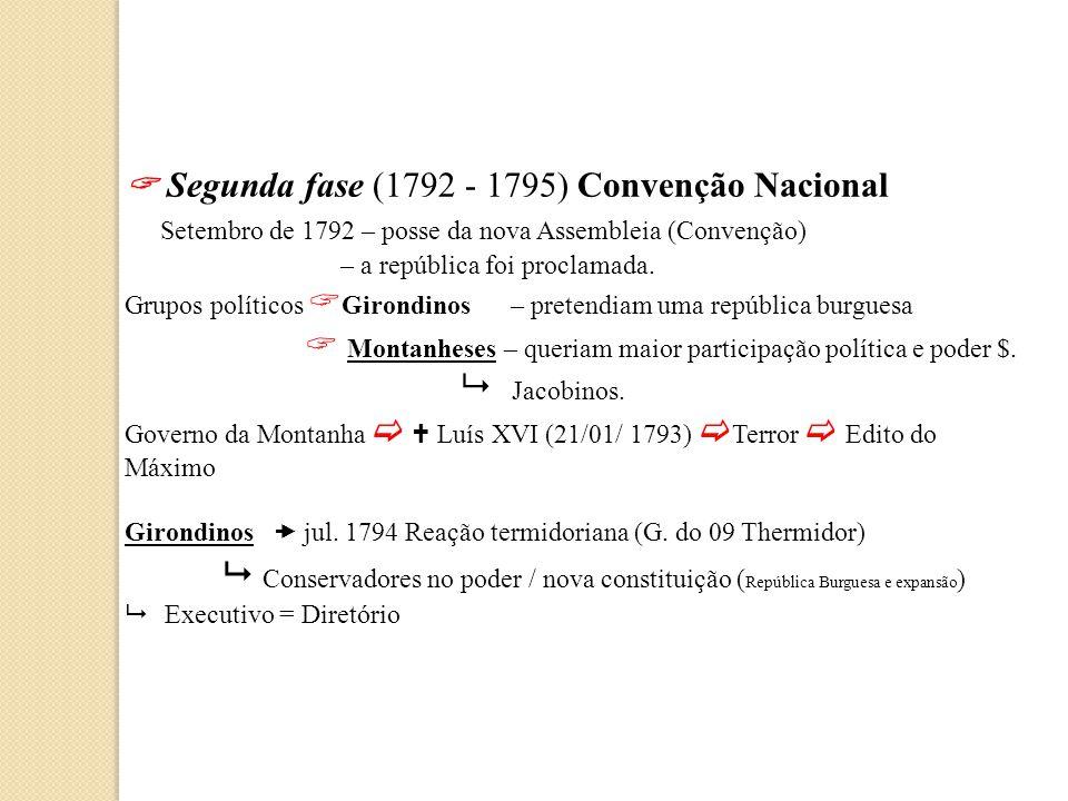  Segunda fase (1792 - 1795) Convenção Nacional