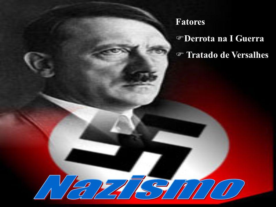 Fatores Derrota na I Guerra Tratado de Versalhes Nazismo