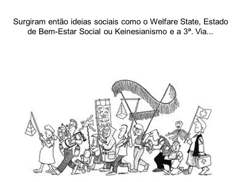 Surgiram então ideias sociais como o Welfare State, Estado de Bem-Estar Social ou Keinesianismo e a 3ª.