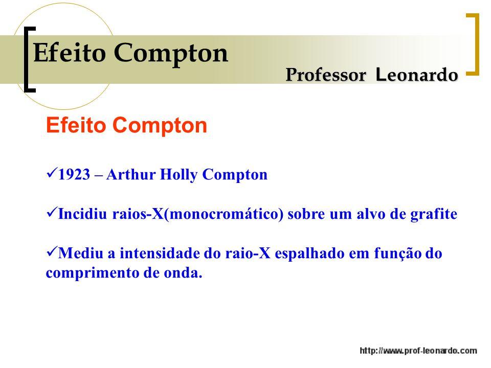 Efeito Compton Efeito Compton Professor Leonardo