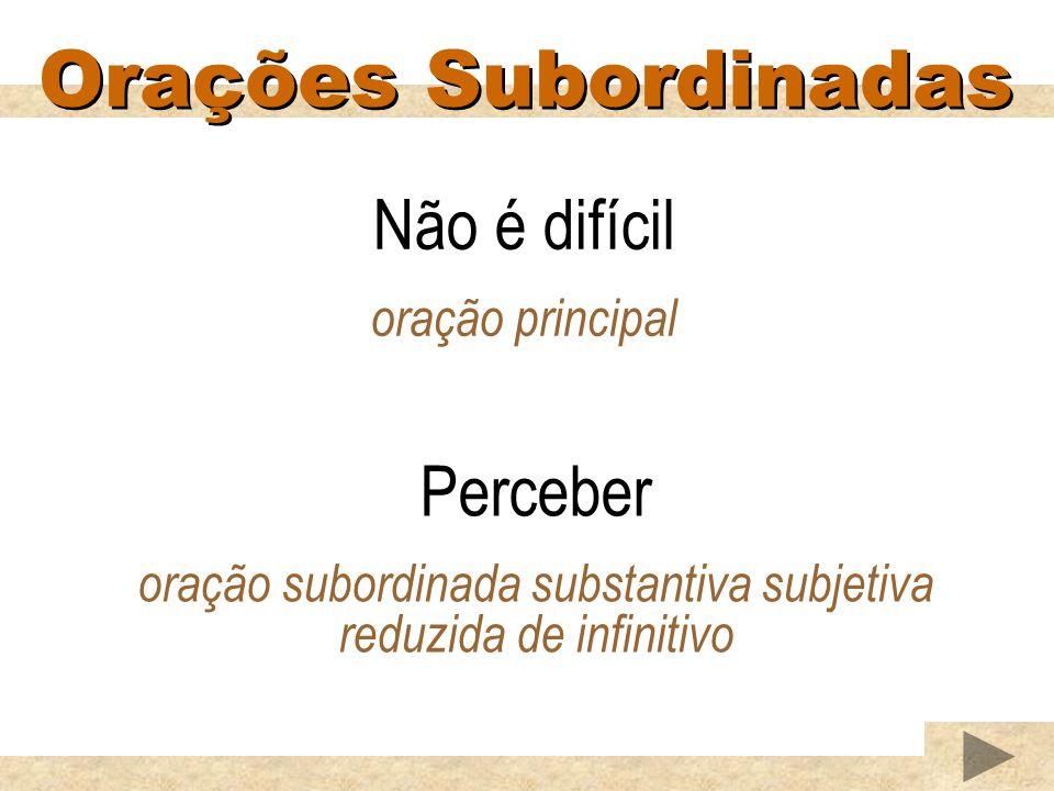 oração subordinada substantiva subjetiva reduzida de infinitivo