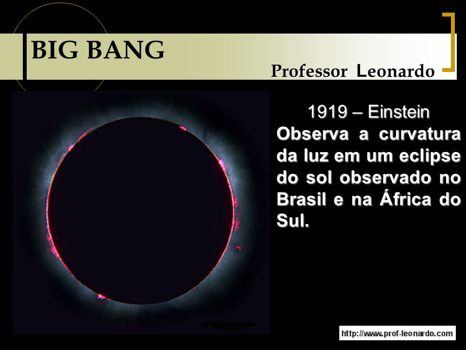 BIG BANG Professor Leonardo 1919 – Einstein