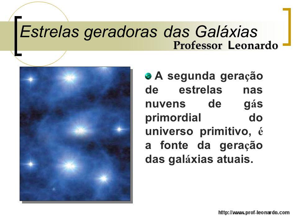 Estrelas geradoras das Galáxias