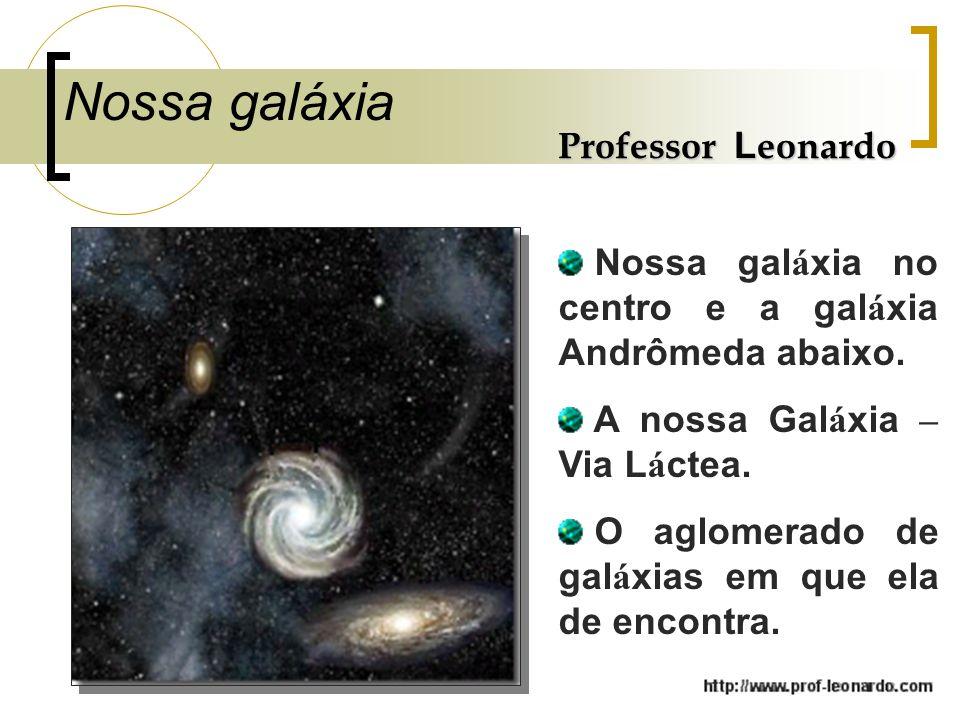 Nossa galáxia Professor Leonardo