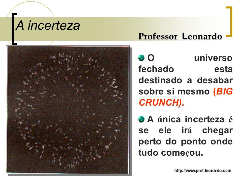 A incerteza Professor Leonardo