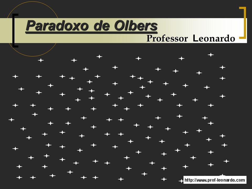 Paradoxo de Olbers Professor Leonardo