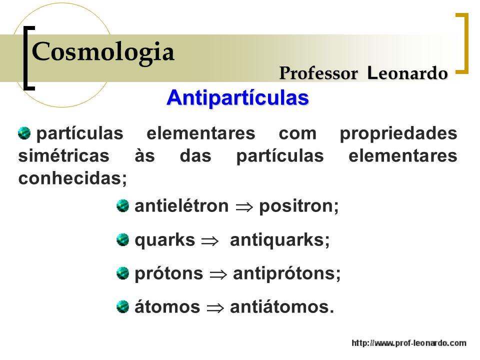 Cosmologia Antipartículas Professor Leonardo