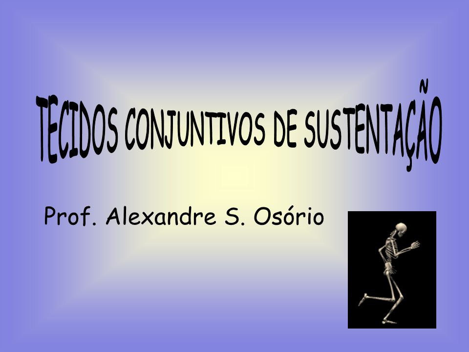 TECIDOS CONJUNTIVOS DE SUSTENTAÇÃO
