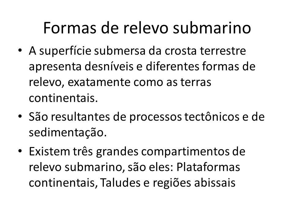 Formas de relevo submarino