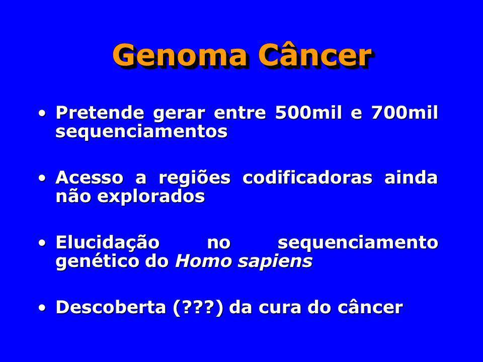 Genoma Câncer Pretende gerar entre 500mil e 700mil sequenciamentos
