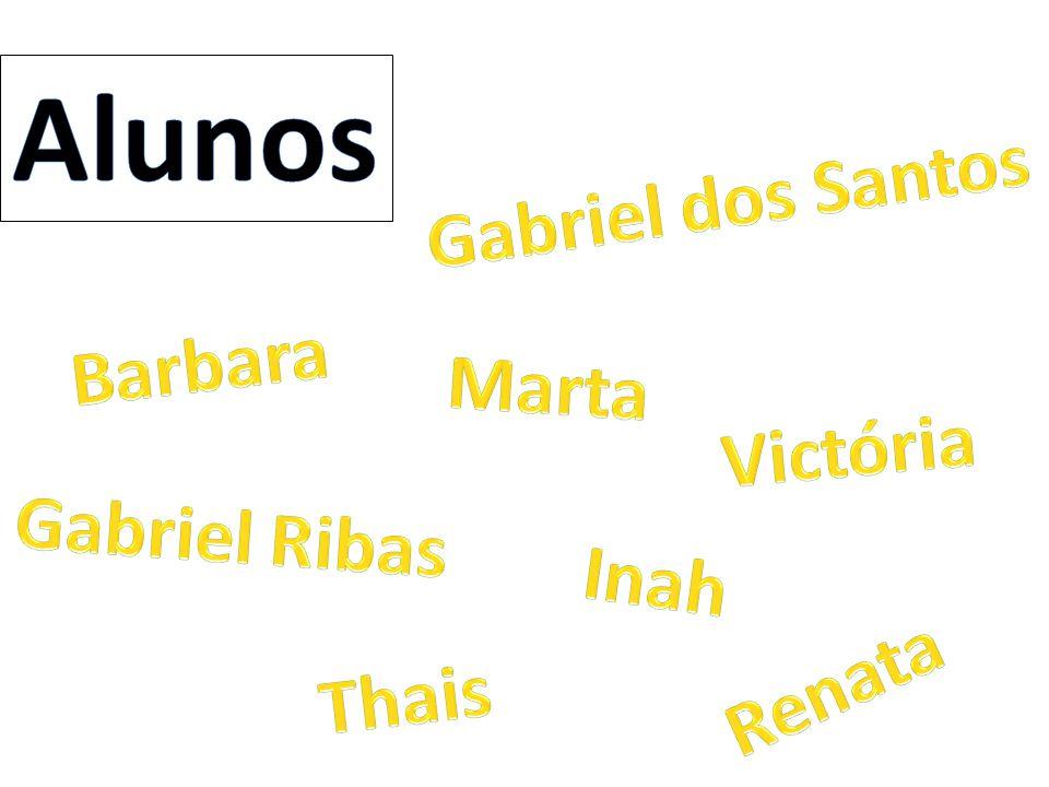 Alunos Gabriel dos Santos Barbara Marta Victória Gabriel Ribas Inah