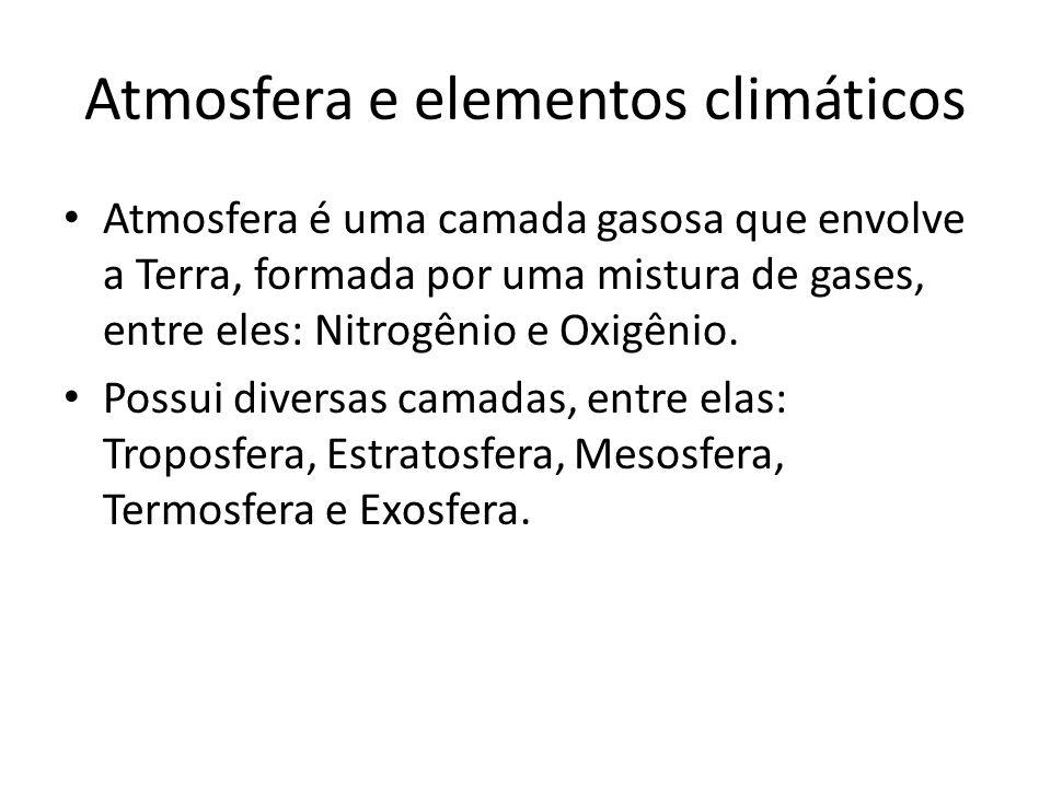 Atmosfera e elementos climáticos