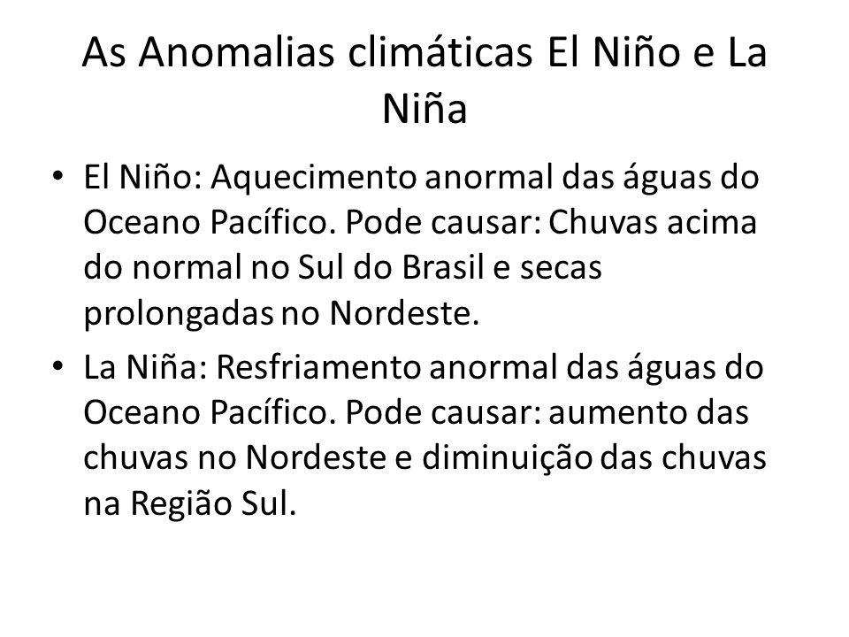 As Anomalias climáticas El Niño e La Niña