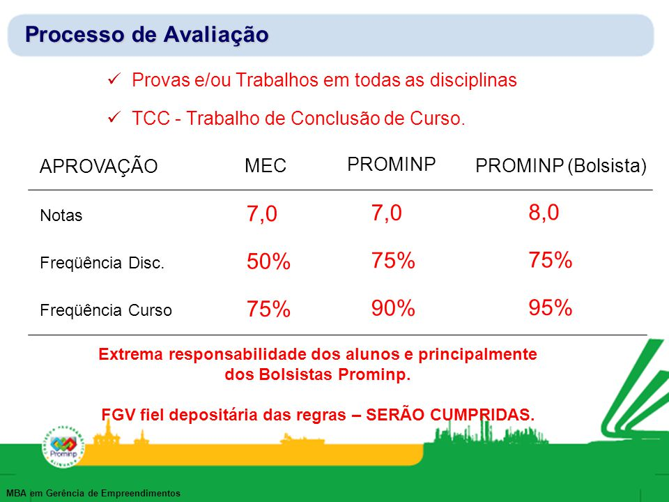FGV fiel depositária das regras – SERÃO CUMPRIDAS.