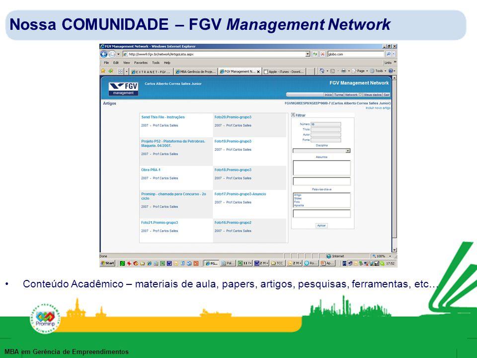 Nossa COMUNIDADE – FGV Management Network