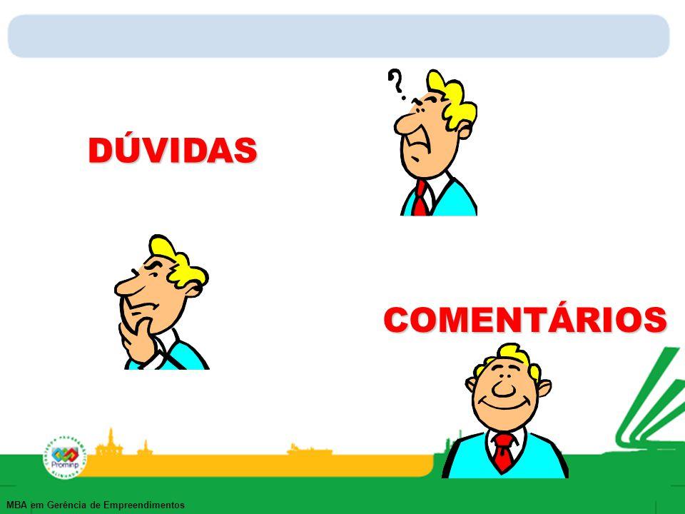DÚVIDAS COMENTÁRIOS