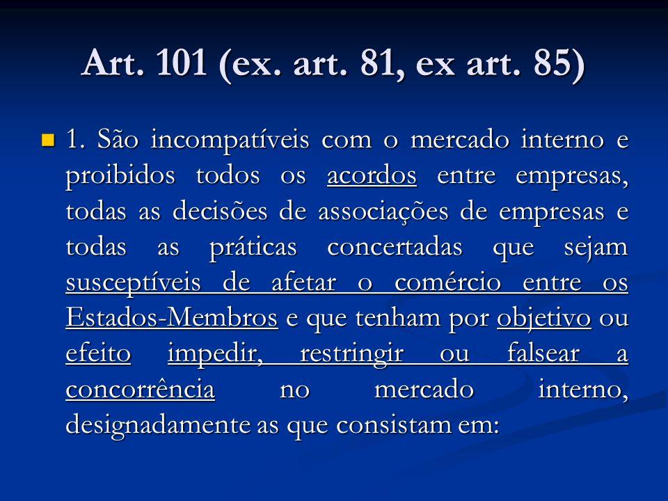 Art. 101 (ex. art. 81, ex art. 85)