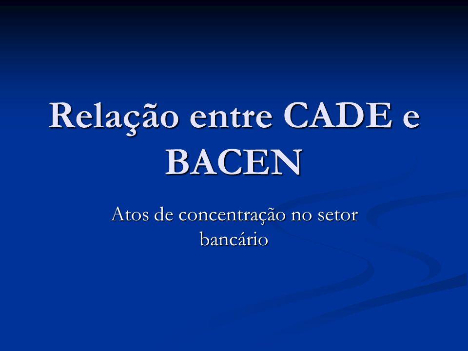 Relação entre CADE e BACEN