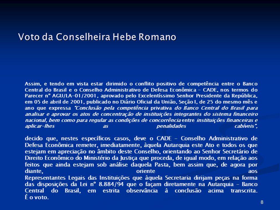 Voto da Conselheira Hebe Romano