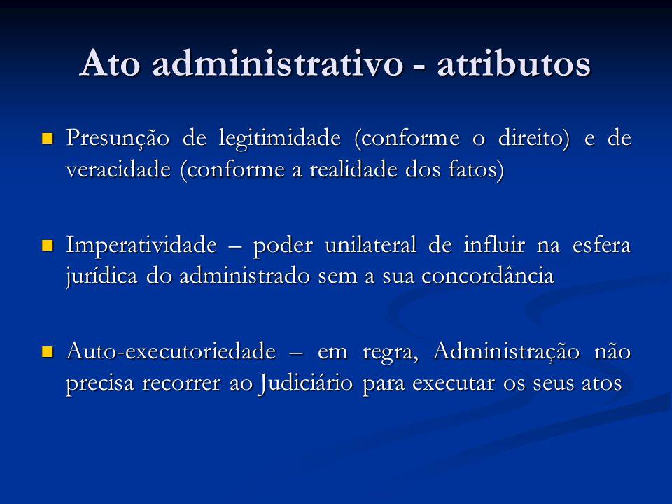 Ato administrativo - atributos