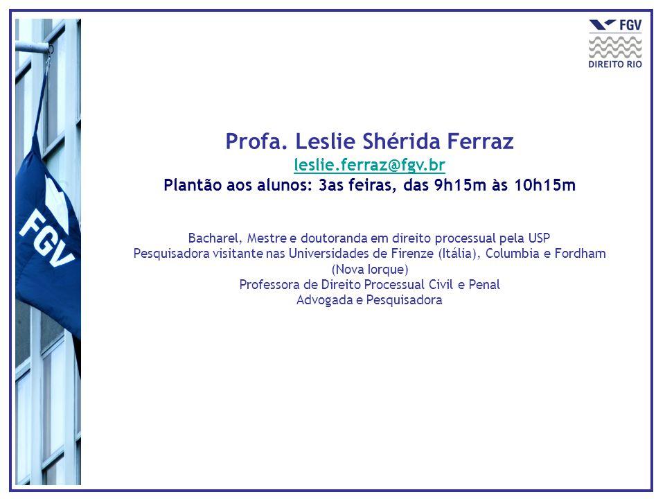 Profa. Leslie Shérida Ferraz leslie.ferraz@fgv.br