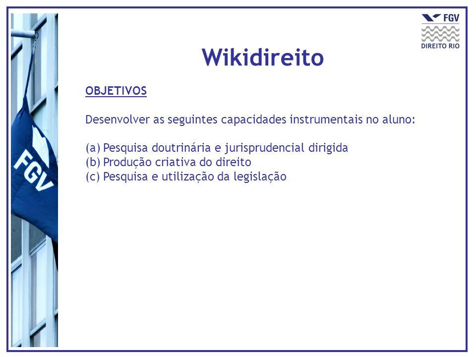 Wikidireito OBJETIVOS