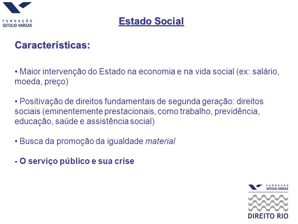 Estado Social Características: