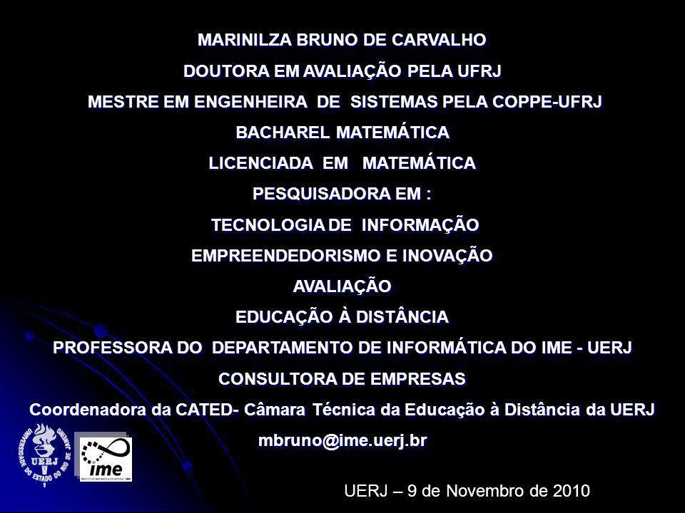MARINILZA BRUNO DE CARVALHO DOUTORA EM AVALIAÇÃO PELA UFRJ