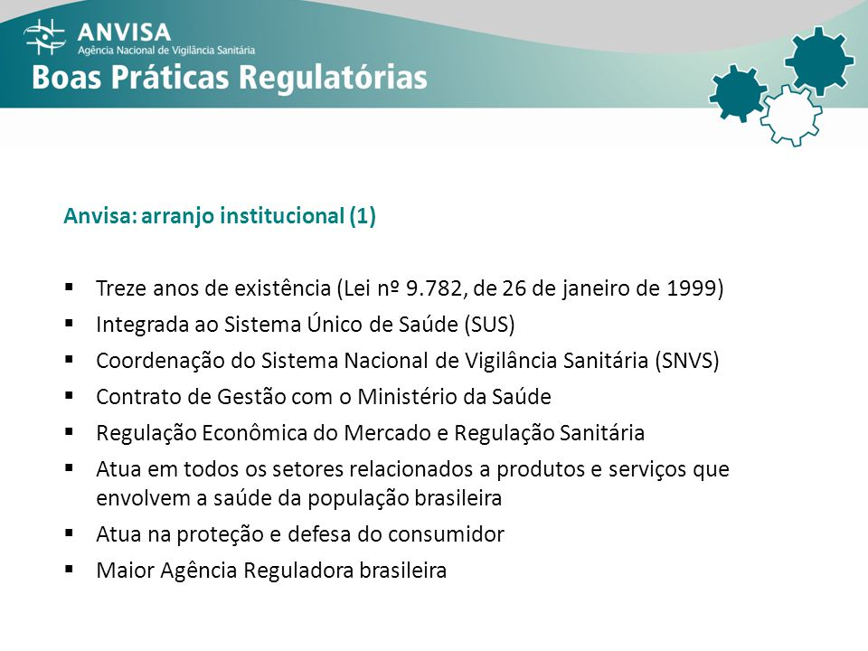 Anvisa: arranjo institucional (1)