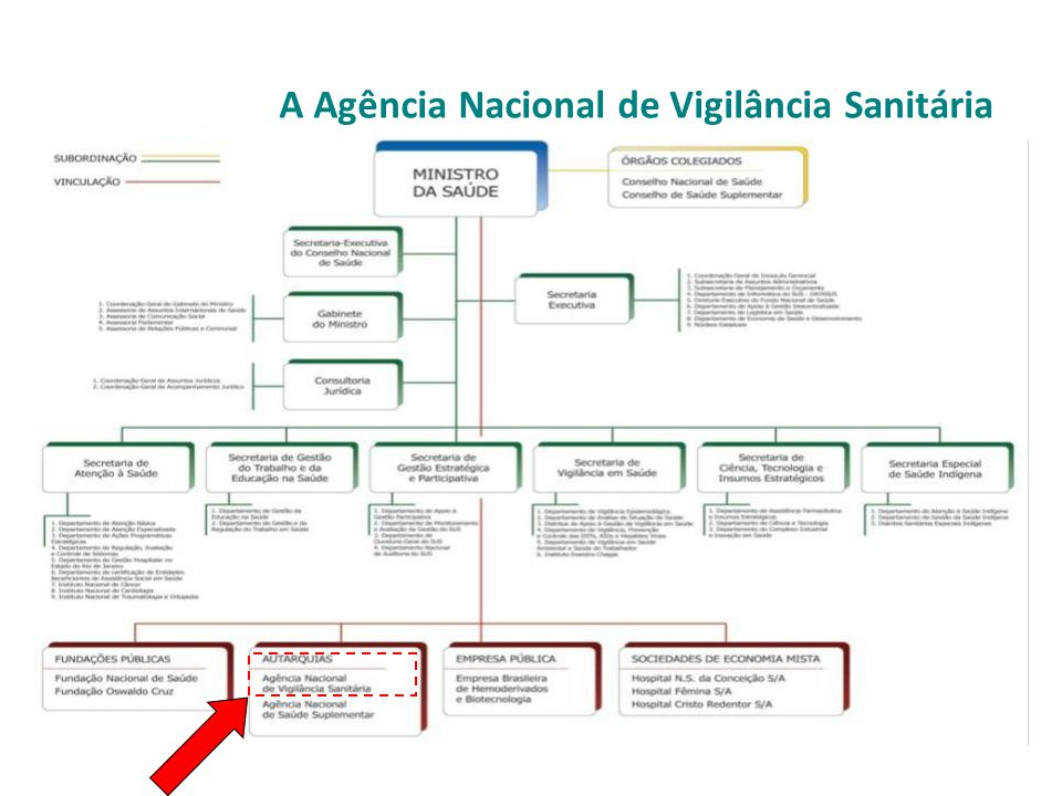 A Agência Nacional de Vigilância Sanitária