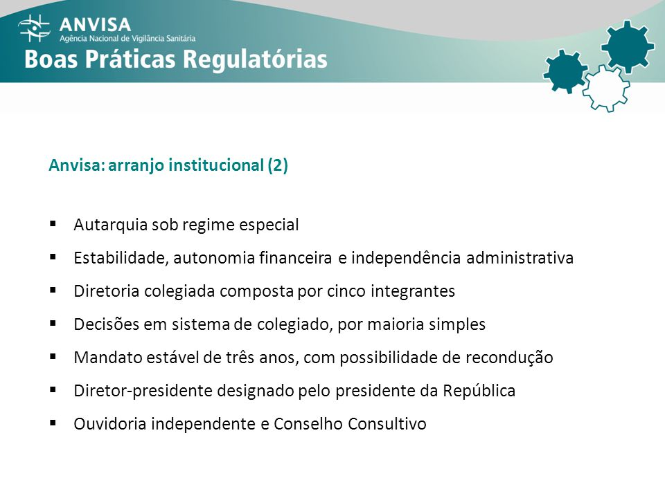 Anvisa: arranjo institucional (2)