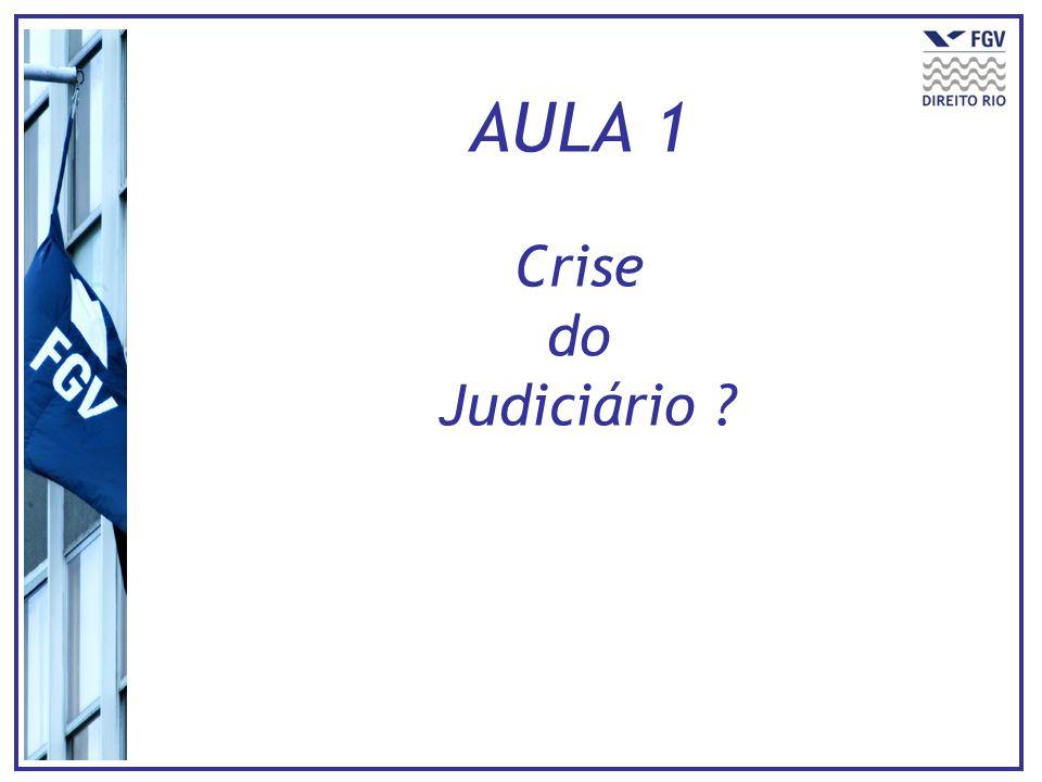 AULA 1 Crise do Judiciário